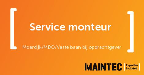Service monteur, Moerdijk - technische vacature - Maintec ...
